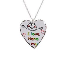 Nana This Much Necklace Heart Charm