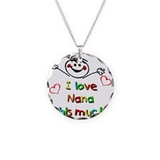Nana This Much Necklace Circle Charm