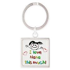 Nana This Much Square Keychain