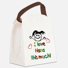 Nana This Much Canvas Lunch Bag