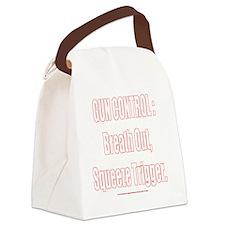 BreatOut_10x10_white Canvas Lunch Bag