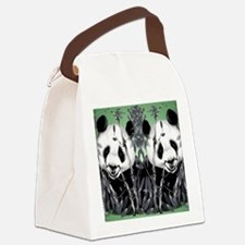 panda_flip_flops Canvas Lunch Bag