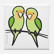 lovebirds_only Tile Coaster