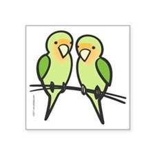 "lovebirds_only Square Sticker 3"" x 3"""