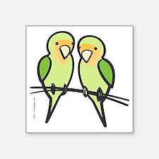 "lovebirds_only Square Sticker 3"" x 3"""