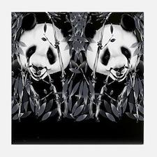 panda_flip_flops Tile Coaster