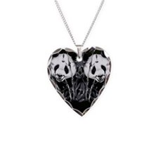panda_flip_flops Necklace Heart Charm