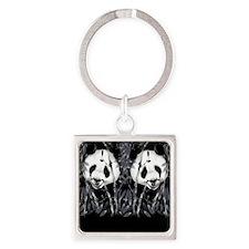 panda_flip_flops Square Keychain