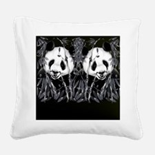 panda_flip_flops Square Canvas Pillow