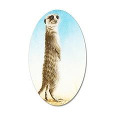 Meerkat Standing (Kindle Sle 35x21 Oval Wall Decal