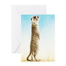Meerkat Standing (Kindle Sleeve) Greeting Card