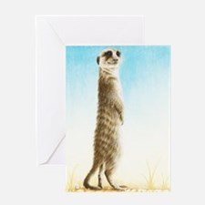 Meerkat Standing (Kindle Sleeve) Greeting Card