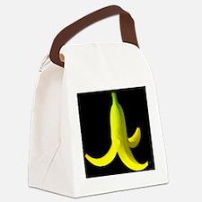 banana peel black Canvas Lunch Bag
