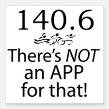 "Theres Not An App For Th Square Car Magnet 3"" x 3"""