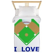 Baseball I Love Diamonds T-Shirts  Gift Twin Duvet