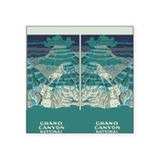 """flip_flops_travel_grand_can Square Sticker 3"""" x 3"""""""