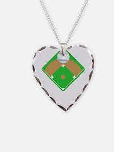 Baseball I love Diamonds T-Sh Necklace