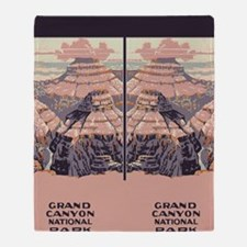 flip_flops_travel_grand_canyon Throw Blanket