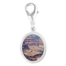 flip_flops_travel_grand_canyon_ Silver Oval Charm