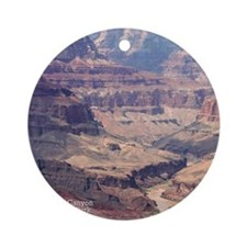 flip_flops_travel_grand_canyon_04 Round Ornament