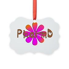 PharmD Pink flower Ornament