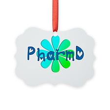 PharmD BLUE FLOWER Ornament
