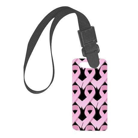 PinkGingRibPB441iph Small Luggage Tag