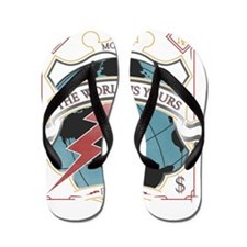 The World is yours-whites Flip Flops
