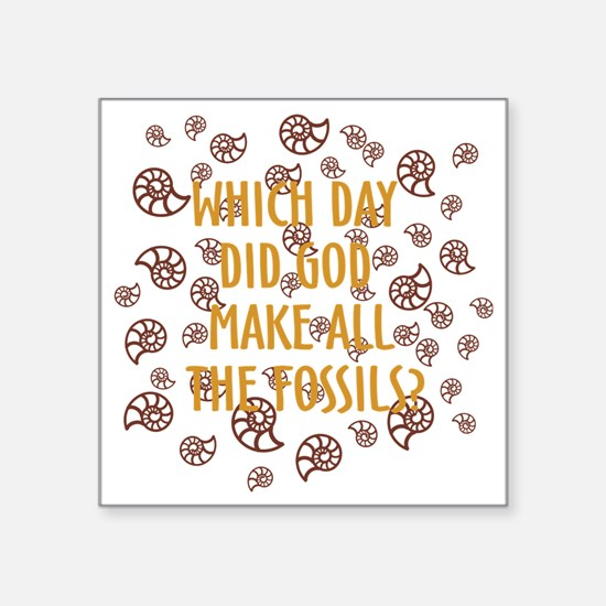 "Fossils-dark shirt Square Sticker 3"" x 3"""