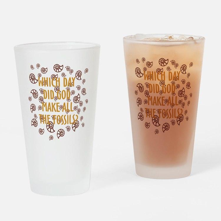 Fossils-dark shirt Drinking Glass