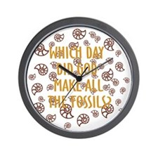 Fossils-dark shirt Wall Clock