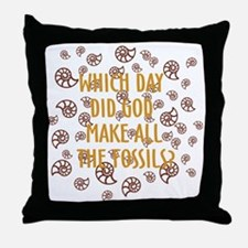 Fossils-dark shirt Throw Pillow