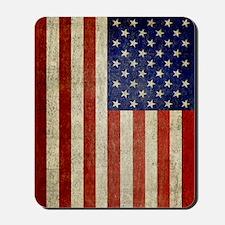 Vintage USA Flag Mousepad