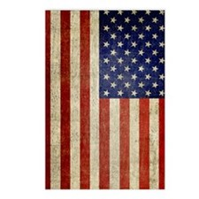 Vintage USA Flag Postcards (Package of 8)