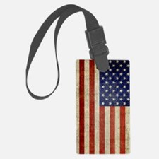 Vintage USA Flag Luggage Tag