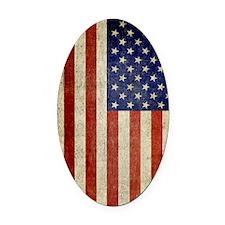 Vintage USA Flag Oval Car Magnet