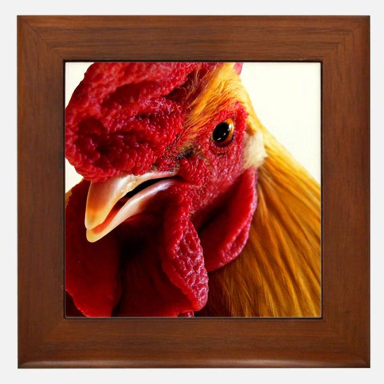 Cockadoodle Doo Framed Tile