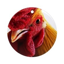 Cockadoodle Doo Round Ornament