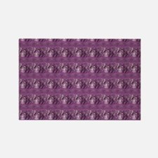 beadedpurpletb Rectangle Magnet