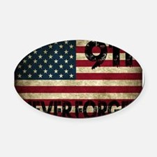911 Grunge Flag Oval Car Magnet
