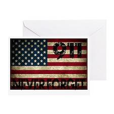 911 Grunge Flag Greeting Card
