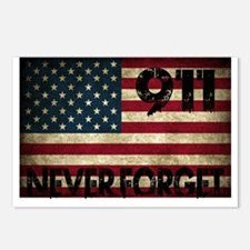 911 Grunge Flag Postcards (Package of 8)