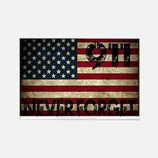911 Grunge Flag Rectangle Magnet