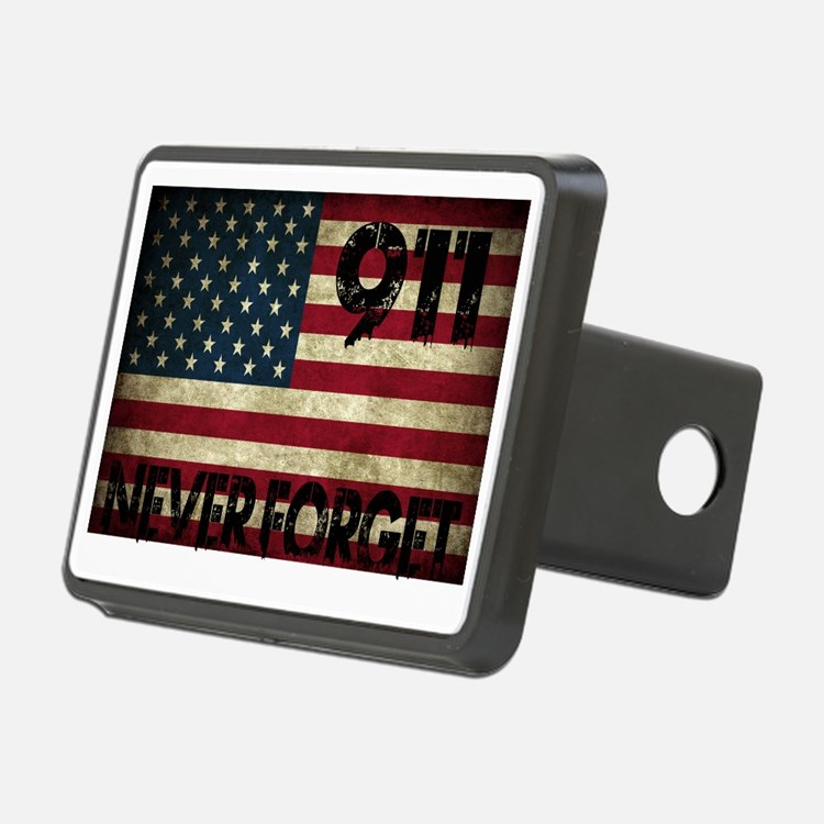 911 Grunge Flag Hitch Cover