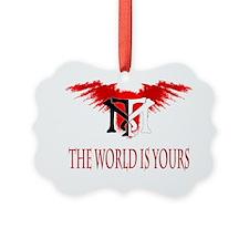 Tony Montana Logo Tshirt.gif Ornament