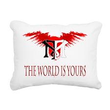 Tony Montana Logo Tshirt Rectangular Canvas Pillow