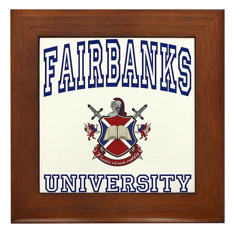 FAIRBANKS University Framed Tile