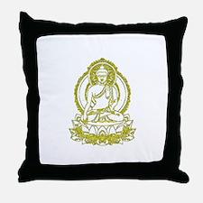 BuddhaOutline2XXX Throw Pillow