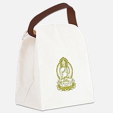 BuddhaOutline2XXX Canvas Lunch Bag