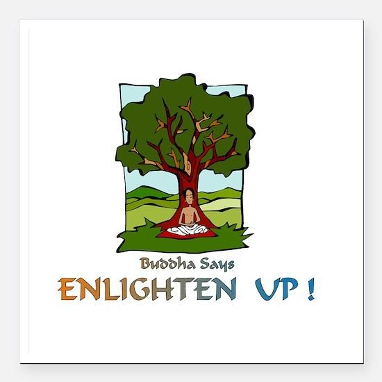 "Enlighten UpXXX Square Car Magnet 3"" x 3"""